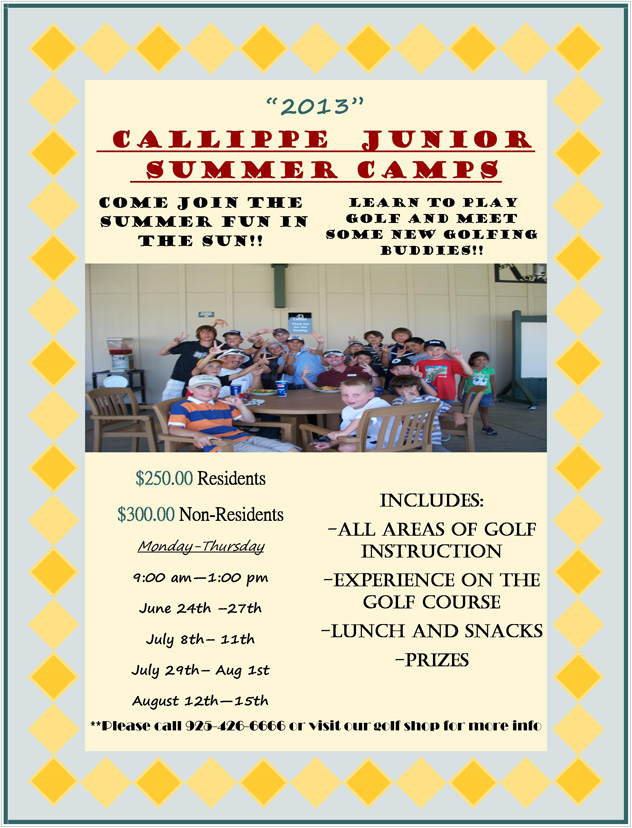 Callippe Junior Summer Camps